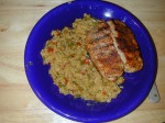 Bayou Blast Center Loin Chops with Spicy Vegetable Basmati Rice
