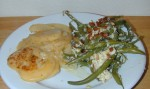 Monterrey Jack White Potatoe Au Gratin with Green Beans and Bacon Gravy