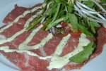 Carpaccio dressed with Lemon Aioli