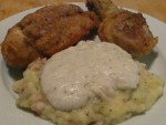 Nanny's Fried Chicken with Mashed Potatoes